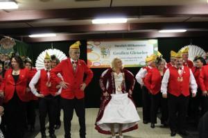 Prinzessin aus Efferen mit tanzenden Ex-Tollitäten