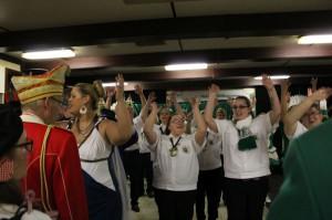 Unser Regimentsspielsmannszug - nicht nur spiel-, sondern auch tanzfreudig